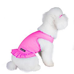お買い得  猫の服-ネコ / 犬 ドレス 犬用ウェア ソリッド パープル / ピンク / ライトブルー コットン コスチューム ペット用 夏 女性用 ファッション