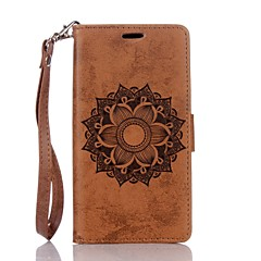 cheap Cases / Covers for Huawei-For Huawei P8Lite P9Lite Mandala Embossed Leather Wallet Case PU Leather Case with Card Holder