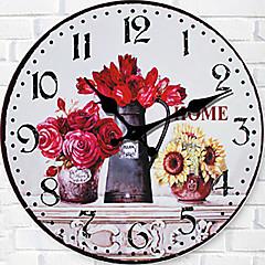 1PC The Sitting Room European-Style Horologe Flower Wall Clocke  Mute  Clock(Pattern is Random)