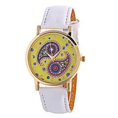 voordelige Bloemenhorloges-Dames Modieus horloge Kwarts Digitaal Maanfase PU Band Vintage Snoep Bloem Bedeltjes Cool Vrijetijdsschoenen Zwart WitWit Zwart Roos