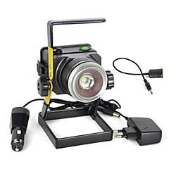 Lanterner & Telt Lamper LED 3000 lm 1 Modus Cree XM-L T6 Zoombare Super Lett Camping/Vandring/Grotte Udforskning Dagligdags Brug Jakt