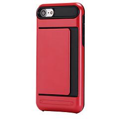 voordelige iPhone 7 Plus hoesjes-Voor Kaarthouder hoesje Achterkantje hoesje Effen kleur Hard PC Apple iPhone 7 Plus / iPhone 7 / iPhone 6s Plus/6 Plus / iPhone 6s/6