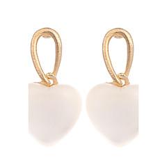 preiswerte Ohrringe-Damen Synthetischer Opal / Katzenauge Chrysoberyl Ohrring - vergoldet, Opal Herz Retro, Modisch Gold / Weiß Für Hochzeit / Party