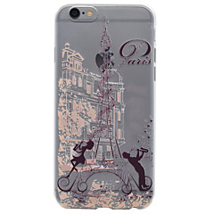 Mert Minta Case Hátlap Case Eiffel torony Puha TPU Apple iPhone 7 Plus / iPhone 7 / iPhone 6s Plus/6 Plus / iPhone 6s/6 / iPhone SE/5s/5