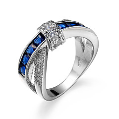 preiswerte Ringe-Damen Kubikzirkonia Ring - Zirkon, Kubikzirkonia, Aleación Modisch 6 / 7 / 8 / 9 / 10 Grün / Rosa / Hellblau Für Hochzeit Party Verlobung