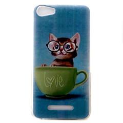 Para wiko lenny3 lenny2 telefone capa capa gatinho padrão pintado tpu material para wiko você sente você se sente lite ensolarado jerry