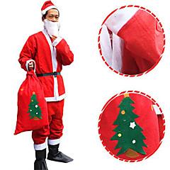 nem szőtt santa frakk karácsonyi kalap szakáll kabát nadrág öv nem tartalmazza a csizma