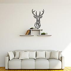 애니멀 / 모양 / 추상 벽 스티커 플레인 월스티커 데코레이티브 월 스티커,PVC 자료 이동가능 홈 장식 벽 데칼
