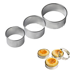 3pcs αυγό κόφτες δακτύλιο τηγανίτα στοίβα prep μούχλα κυκλική cookies εργαλεία μούχλα από ανοξείδωτο χάλυβα