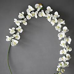 Set of 1 PCS 1 şube Polyester Orkideler Masaüstü Çiçeği Yapay Çiçekler Long 78(inch)