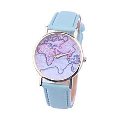 お買い得  大特価腕時計-女性用 ブレスレットウォッチ クォーツ PU バンド ハンズ ファッション 世界地図柄 ブラック / 白 / ブラウン - ライトブルー ライトグリーン クリスタル 1年間 電池寿命 / Tianqiu 377