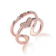 preiswerte Halsketten-Damen Kristall / Synthetischer Diamant Übergang Bandring / Knöchel-Ring - Roségold, Sterling Silber Modisch Eine Größe Silber / Golden Für Hochzeit / Party / Alltag