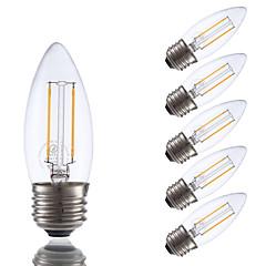 お買い得  LED 電球-GMY® 6本 200 lm E26 / E27 フィラメントタイプLED電球 B 2 LEDビーズ COB 調光可能 温白色 / 6個 / UL認証