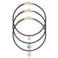 preiswerte Halsketten-Damen Halsketten / Tattoo-Hals - Harz Tattoo Stil, Modisch Schwarz 45+5 cm Modische Halsketten Schmuck Für Hochzeit, Party, Alltag