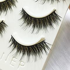 Cílios Cílios Tiras Completas de Cílios Olhos Grossa Confeccionada à Mão Fibra Banda Preta 0.07mm 14mm