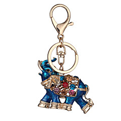 The New Thailand Hot Genuine Diamond Car Keychain Drop Elephant Girls Bag Ornaments Pendant Small Customized Gifts Factory Direct Sales