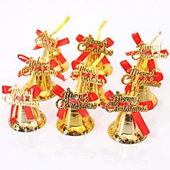 9db karácsonyi díszítés karácsonyfa díszítés ragyog arany lógó csengő bowknot diy boldog karácsonyt