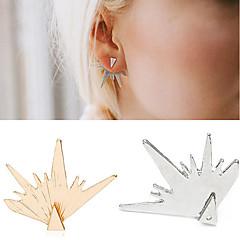 preiswerte Ohrringe-Herrn / Damen Ohrstecker - Blattform Personalisiert, Doppelschicht, Modisch Gold / Silber Für Alltag / Normal / Sport