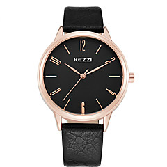 cheap Watch Deals-KEZZI® Couple's Fashion Quartz Casual Watch Men's/Women's Dress Watch Simple Leather Belt Round Alloy Dial Wrist Watch Cool Watch Unique Watch