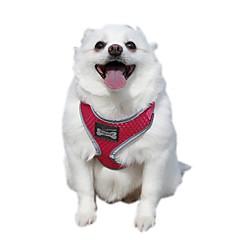 お買い得  犬用首輪/リード/ハーネス-ネコ 犬 ハーネス 調整可能 / 引き込み式 反射 高通気性 ソフト 安全用具 ランニング ベスト カジュアルスーツ コスプレ ソリッド ファブリック メッシュ オレンジ イエロー ローズ グリーン