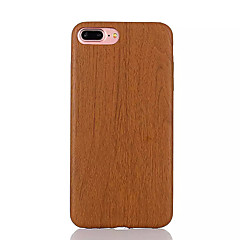 Para Funda iPhone 7 / Funda iPhone 6 / Funda iPhone 5 Ultrafina Funda Cubierta Trasera Funda Fibra de Madera Suave TPU AppleiPhone 7 Plus