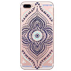 Для Кейс для iPhone 7 / Кейс для iPhone 6 / Кейс для iPhone 5 Прозрачный / С узором / Рельефный Кейс для Задняя крышка Кейс дляКружевной