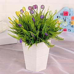 1 1 şube Plastik Bitkiler Masaüstü Çiçeği Yapay Çiçekler 28CM