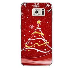 Case Kompatibilitás Samsung Galaxy S7 edge S7 Áttetsző Minta Hátlap Karácsony Puha TPU mert S7 edge plus S7 edge S7 S6 edge plus S6 edge