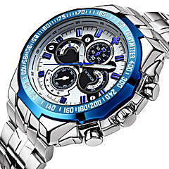 voordelige Digitale horloges-WWOOR Heren Sporthorloge Dress horloge Modieus horloge Polshorloge mechanische horloges Automatisch opwindmechanisme Waterbestendig Punk
