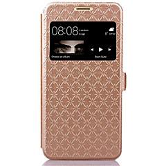 Mert Huawei tok / P9 Lite Kártyatartó / Állvánnyal / Betekintő ablakkal / Flip Case Teljes védelem Case Mértani formák Kemény Műbőr Huawei