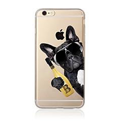 hoesje Voor Apple iPhone X iPhone 8 Plus iPhone 7 iPhone 6 iPhone 5 hoesje Doorzichtig Patroon Achterkantje Hond Zacht TPU voor iPhone X