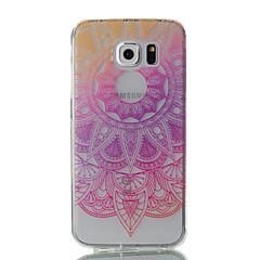 abordables Galaxy S6 Carcasas / Fundas-Funda Para Samsung Galaxy S7 edge / S7 Ultrafina / Transparente / Diseños Funda Trasera Flor Suave TPU para S7 edge / S7 / S6 edge