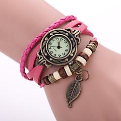 お買い得  大特価腕時計-女性用 ブレスレットウォッチ クォーツ カジュアルウォッチ PU バンド ハンズ 葉っぱ ボヘミアンスタイル ファッション ブラック / レッド / オレンジ - グリーン ピンク ライトブルー 1年間 電池寿命 / Jinli 377