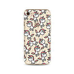 Capinha Para Apple iPhone X iPhone 8 Plus iPhone 7 iPhone 6 Capinha iPhone 5 Translúcido Estampada Capa Traseira Unicórnio Macia TPU para