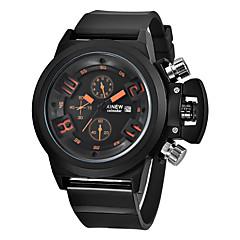 preiswerte Tolle Angebote auf Uhren-Herrn Quartz Armbanduhr / Militäruhr / Sportuhr Kalender / Wasserdicht / Cool PU Band Charme / Retro / Freizeit / Modisch Schwarz