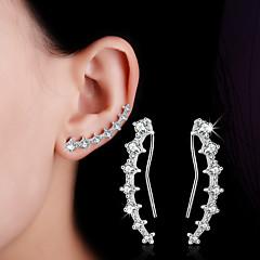 olcso -Női Beszúrós fülbevalók Klipszes fülbevalók Kristály Szintetikus gyémánt Duplarétegű Sexy Divat Állítható Személyre szabott Hipoallergén