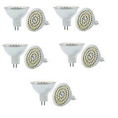 preiswerte LED-Birnen-10 Stück 3W 280lm GU5.3(MR16) LED Spot Lampen MR16 60 LED-Perlen SMD 3528 Abblendbar Dekorativ Warmes Weiß Kühles Weiß 12V