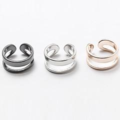 Férfi Női Karikagyűrűk Ékszerek minimalista stílusú Állítható Réz Ezüstözött Arannyal bevont Ékszerek Kompatibilitás Esküvő Parti Napi