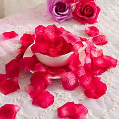 billiga Office Decor-1 Gren Polyester Roser Bordsblomma Konstgjorda blommor