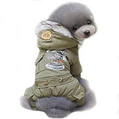 Câine Haine Hanorace cu Glugă Îmbrăcăminte Câini Bumbac Primăvara/toamnă Iarnă Cosplay Keep Warm Αντιανεμικό Modă Polițist/Militar Verde