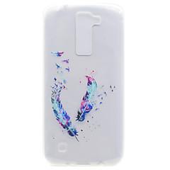 billige Etuier til LG-Etui Til LG K8 LG LG Nexus 5X LG K10 LG K7 Transparent Mønster Bagcover Fjer Blødt TPU for LG X Power