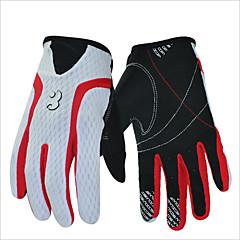 tanie Rękawiczki na rower-Rękawiczki sportowe Keep Warm Wodoodporny Quick Dry Zdatny do noszenia Oddychający Wearproof Ochronne Full Finger Spandex Silikonowy