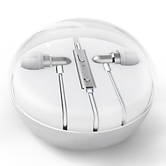 olcso Headsetek és fejhallgatók-MEIZU Meizu EP-31 Fülben Vezetékes Fejhallgatók Aluminum Alloy Mobiltelefon Fülhallgató A hangerőszabályzóval / Mikrofonnal Fejhallgató