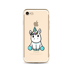 Custodia Per Apple iPhone X iPhone 8 Plus iPhone 7 iPhone 6 Custodia iPhone 5 Traslucido Fantasia/disegno Custodia posteriore Unicorno