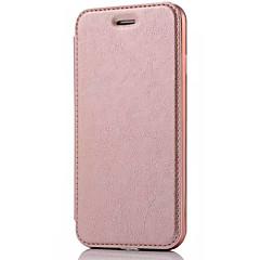 Недорогие Кейсы для iPhone 5-Кейс для Назначение Apple iPhone X iPhone 8 Кейс для iPhone 5 iPhone 6 iPhone 7 Бумажник для карт Флип Чехол Сплошной цвет Твердый Кожа PU