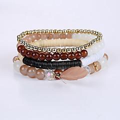 Heren Dames Strand Armbanden Armband Bohemia Style Modieus Acryl Hars Veer Sieraden Voor Causaal