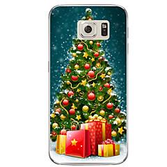 halpa Galaxy S6 Edge kotelot / kuoret-Etui Käyttötarkoitus Samsung Galaxy S7 edge S7 Läpinäkyvä Kuvio Takakuori Joulu Pehmeä TPU varten S7 edge plus S7 edge S7 S6 edge plus S6