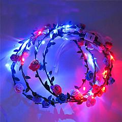 라이트 업 머리띠 LED 빛 모자 할로윈 크리스마스 휴일 항목을 발광 꽃 왕관 국화를 주도