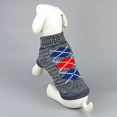 お買い得  犬用ウェア&アクセサリー-ネコ 犬 セーター 犬用ウェア 幾何学的な グレー ピンク アクリル繊維 コスチューム ペット用 男性用 女性用 カジュアル/普段着