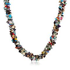Dame Kort halskæde Krystal Agat Vintage Boheme Stil Regnbue Smykker For Fest Daglig Afslappet 1 Stk.